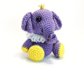 PATTERN: Crochet Little Elephant (PDF file)- amigurumi animal tutorial crochet pattern template knitting elephant stuffed toy