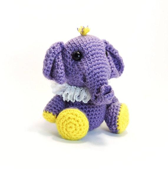 Muster Häkeln Kleine Elefant Pdf Dateiamigurumi Tier Etsy