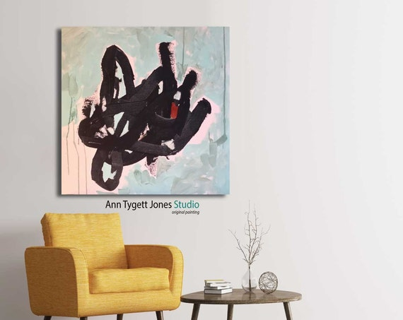 Mid century modern art, abstract, contemporary art, modern interior decor, modern wall art, abstract painting, minimalistic, lobby art