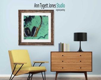 headphones art print, HEADPHONES art, abstract headphones, modern interior wall art, retro music art print, music art, hipster art print,