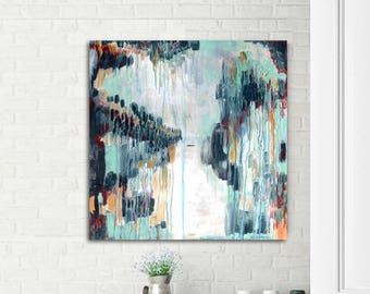 Abstract painting, mid century modern art, original abstract, art for office, modern abstract, interior decor, interior art, commercial art