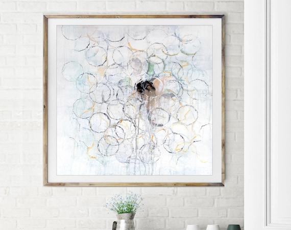 Mid Century Modern Art Print, Giclee art print, white abstract, white art, geometric art, geometric abstract, modern abstract art print,