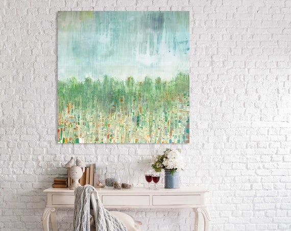 Large Abstract Painting, landscape painting, abstract landscape, commercial art, art for the office, large painting, autumn landscape, fall