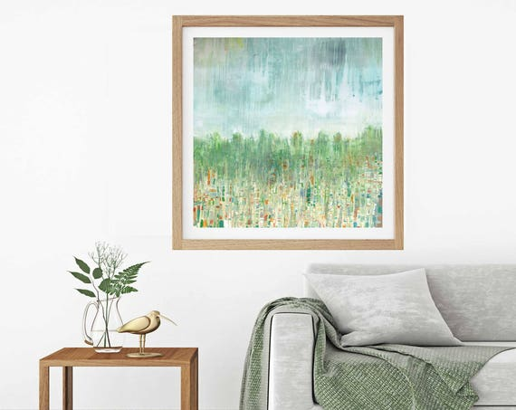 Large art print, giclee art print, abstract landscape, fall landscape, commercial art print, art for office, lobby art, muted landscape