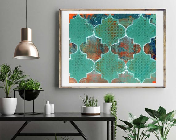 LATTICE Geometric art, giclee art print, large art, modern abstract art, contemporary art, modern interior decor, original abstract art