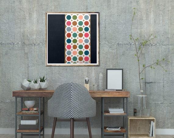 ART PRINT, mid century modern geometric art, contemporary art print, geometric art print, mid century modern interior, retro giclee print