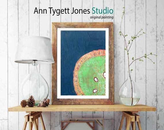 lime art print, LIME , modern interior wall art, kitchen art, fruit art, handmade wall art, contemporary food art print, art for the kitchen