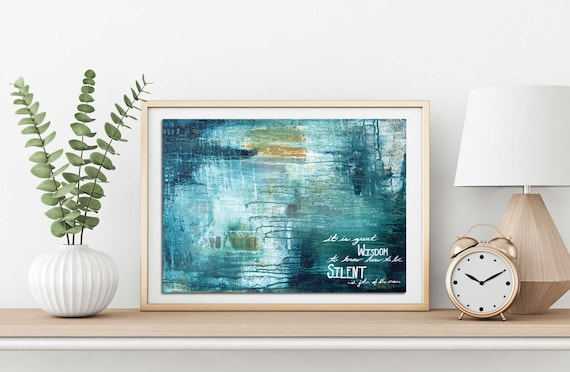 Inspirational wall art, religious art, modern abstract, quote art print, positive quote, wisdom, abstract art print, inspirational quote God