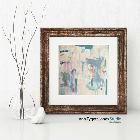 Abstract art print, pastel abstract wall art, interior wall decor, modern abstract acrylic painting, interior decor, modern abstract print