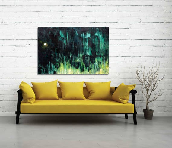 Abstract sky painting, My Morning Star, original abstract painting, star painting, night sky painting, morning star painting, modern art