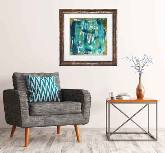 Abstract art print, giclee art print, blue abstract art, interior art print, contemporary abstract, mid century modern art, modern interior