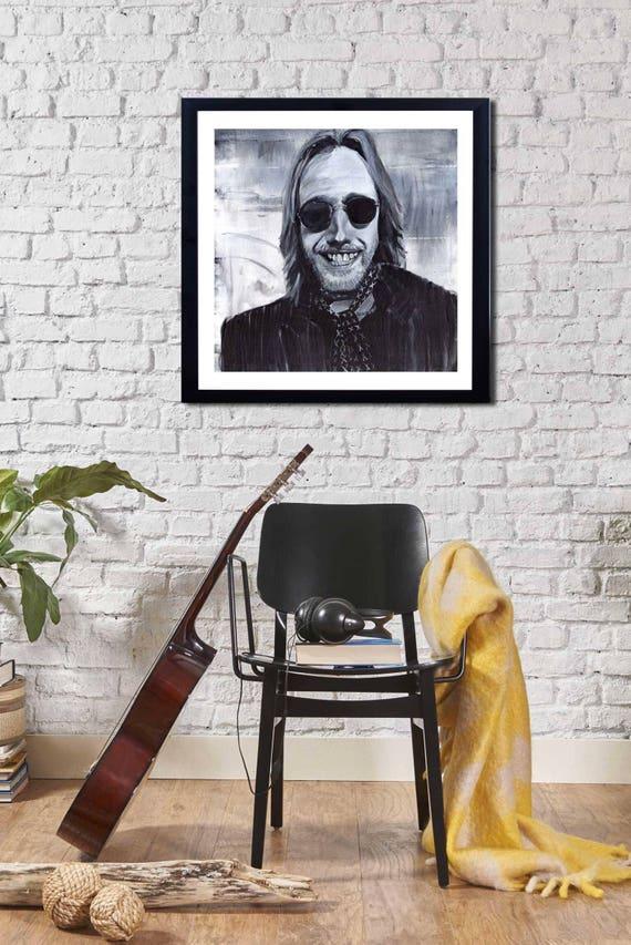Tom Petty, art print of Tom Petty, Tom Petty Wall art, Heartbreakers print, tribute to Tom Petty, Tom Petty painting, rock art, rock legend