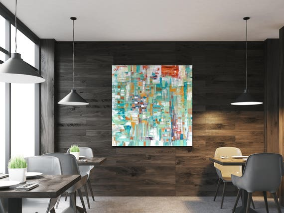 Abstract painting, hotel art, gallery art, large abstract painting, interior design, restaurant wall art, contemporary abstract, wall art