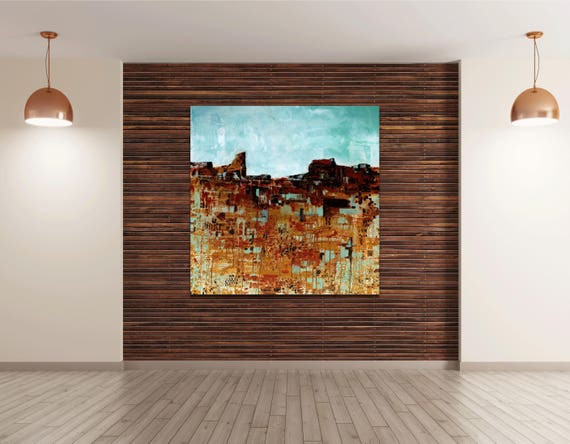 Abstract Desert Landscape,desert art, commercial art, lobby art, large painting, interior staging, interior design, modern landscape art
