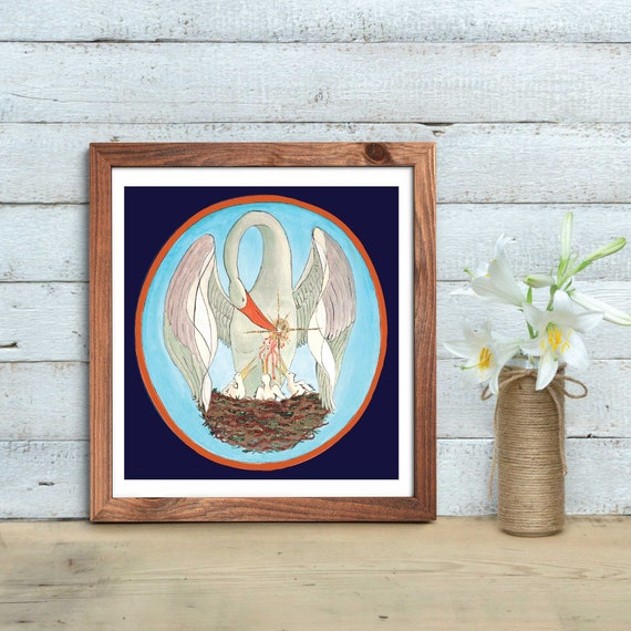 Sacrifice, catholic images, catholic art, catholic pelican image, Pelican, sacred images, Eucharist, Jesus Christ, blood of Christ, catholic