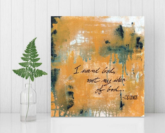 Inspirational wall art, religious art, modern abstract, quote wall art, positive quotes, original abstract painting, abstract painting, God
