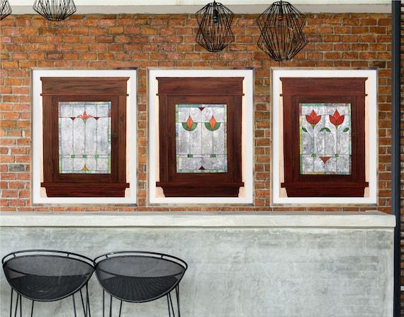 Stained Glass Window art, giclee art print of window, retro stained glass window, commercial art, lobby art, office art, restaurant art, art