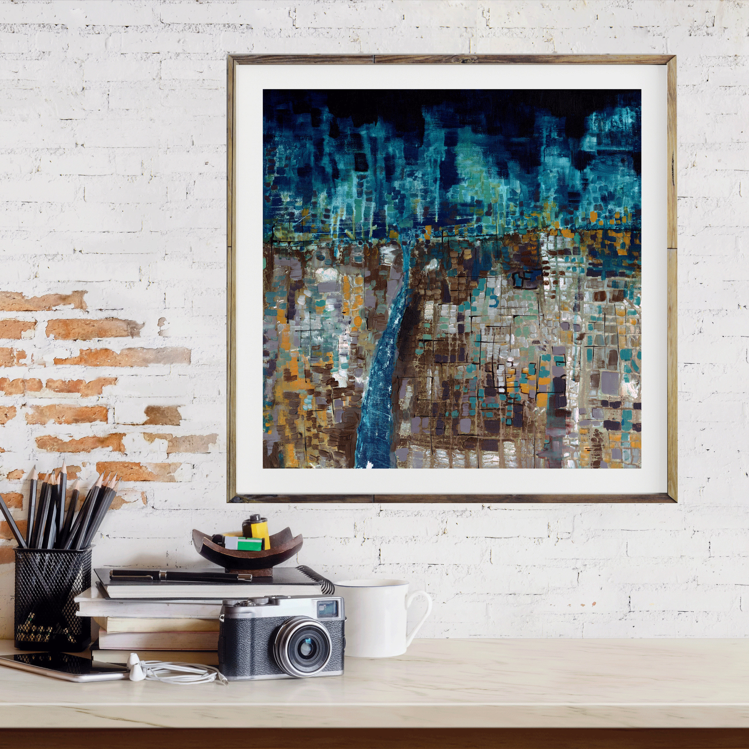 Incredible Abstract Art Print Abstract Landscape Modern Art Night Download Free Architecture Designs Embacsunscenecom
