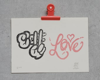 Hashtag Love - #love (limited) in red or pink