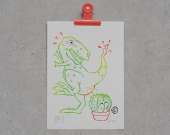 """T-Rex """"Horst"""" vs. Cactus"""