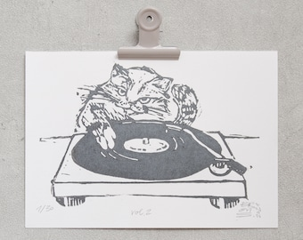 DJ Cat, vol.2 – limited linoleic printing