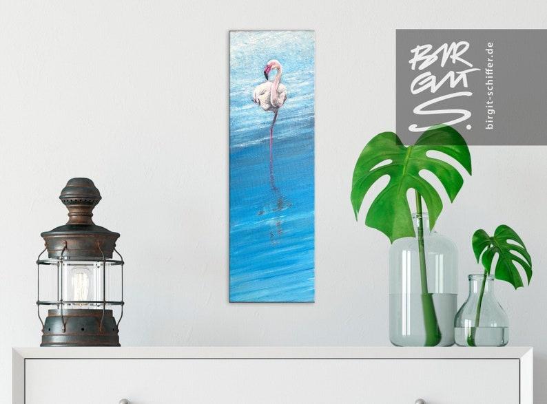 Flamingo  Original acrylic on canvas image 0