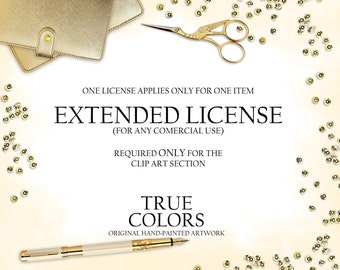 Extended license for CLIP ART Hand-Drawn Clip Art One License for One Item