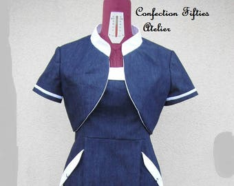 Tailored dress navy blue
