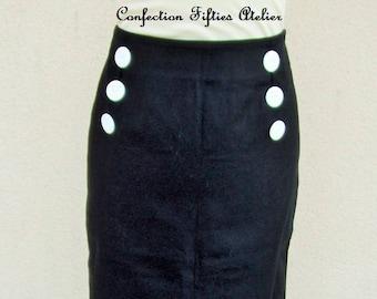 Black navy skirt