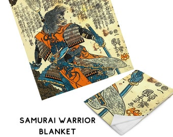 Samurai Warrior Martial Arts Gift, Throw Blanket