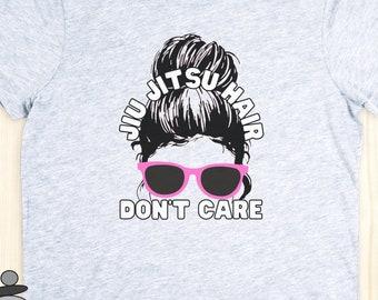 Jiu Jitsu Hair Don't Care T-Shirt, Brazilian JiuJitsu Shirt, BJJ Womens Tee