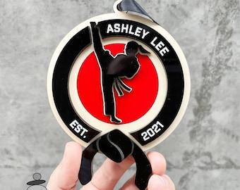Karate Ornament, Karate Girl Black Belt Gift Idea, Christmas Gift