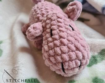 Benjamin - Handmade Crochet House Hippo