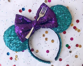 Little Mermaid Inspired Sequins Mouse Ears