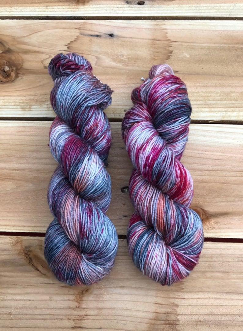 feather socks merino blend speckled yarn knitting yarn Hand dyed yarn sock yarn