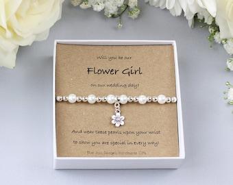 Flower Girl Proposal Bracelet, Proposal Gift, Will You Be My Flower Girl, Ask Flower Girl, Flower Girl Gift, Bridesmaid Jewellery