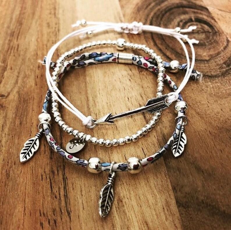 Boho Jewelry Chic Bracelet Set Festival Clothing Liberty Bohemian Jewelry Personalized Jewelry Stacking Bracelets Feather Jewellery