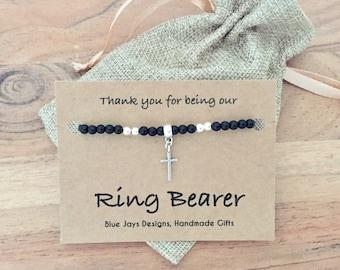 Ring Bearer Gifts, Wedding Ideas, Ring Bearer Ideas, Ring Bearer Attire, Wedding Party Gifts, Wedding Ring Holder, Wedding Ring, Bracelet