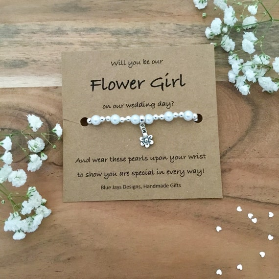 Flower Girl Proposal Bracelet Proposal Gift Will You Be My