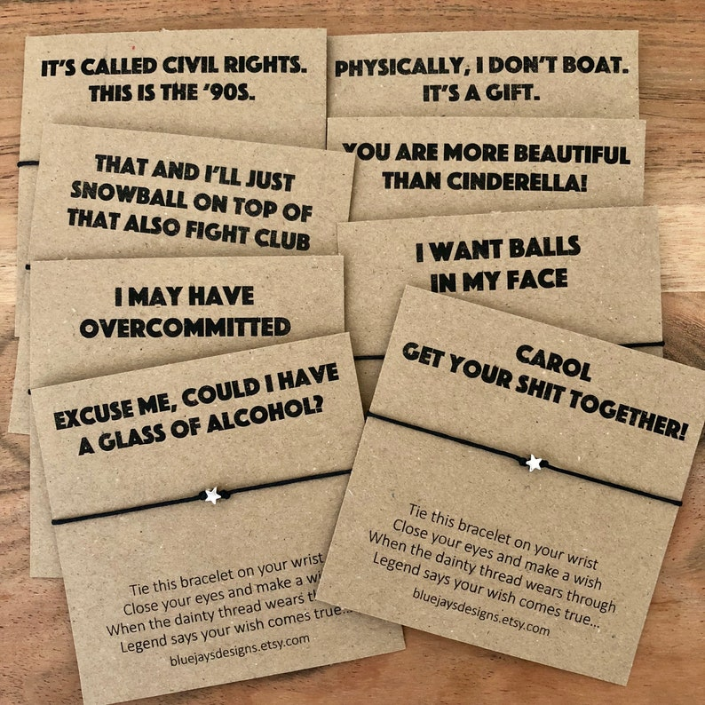 Bridesmaids Movie Bachelorette Favors Quotes and Wish | Etsy