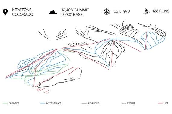 Keystone Colorado Printable Ski Map 16\