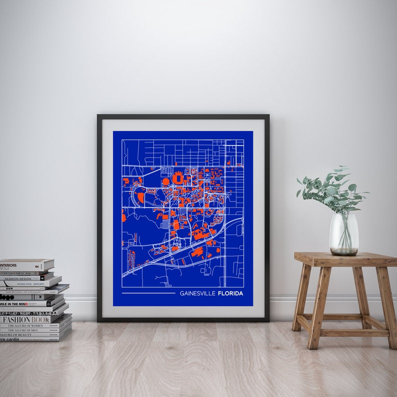 Gainesville Florida printable map, Florida campus map, gift for college on florida state university map, uf gainesville map, ucf campus map, uf parking map, uf dorm map, shands campus map, university of fl map, university of florida map, uf health science center map,