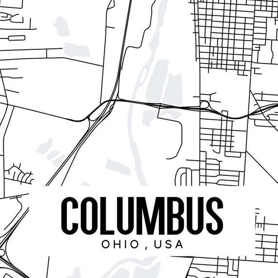 picture regarding Printable Map of Ohio identified as Columbus Ohio Map Printable, Ohio Printable Map, Ohio Wall Artwork, Town Wall Artwork, Columbus wall artwork, Midwest artwork, Ohio artwork, Columbus wall artwork