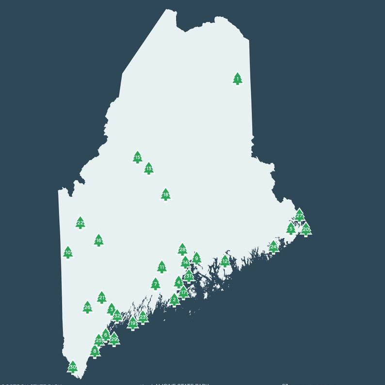 Maine State Parks Map printable 16