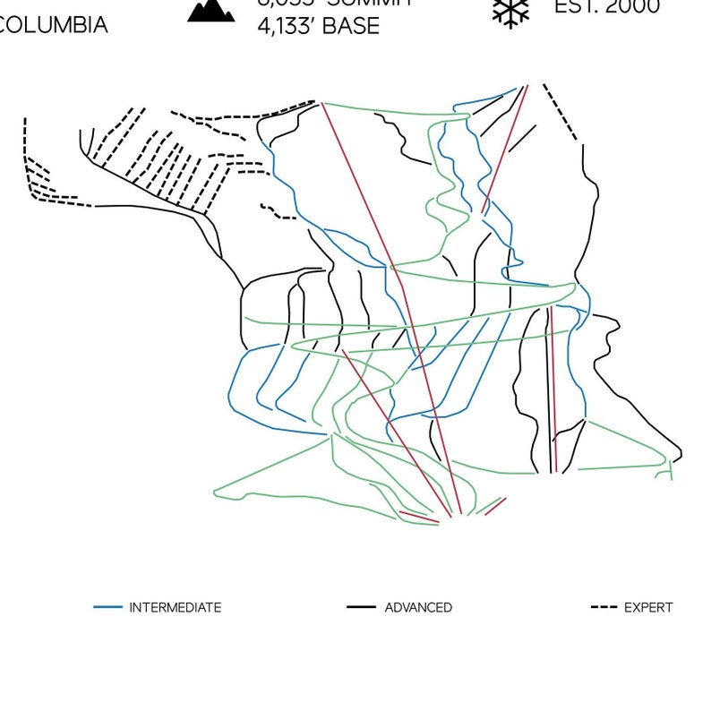 kicking horse skiing, red mountain ski map, banff ski map, lake louise ski map, kicking horse bike park, kicking horse summer, on kicking horse ski map