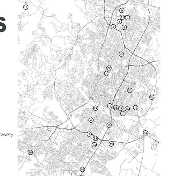 graphic regarding Printable Map of Austin identify Austin Breweries Printable Map 16\