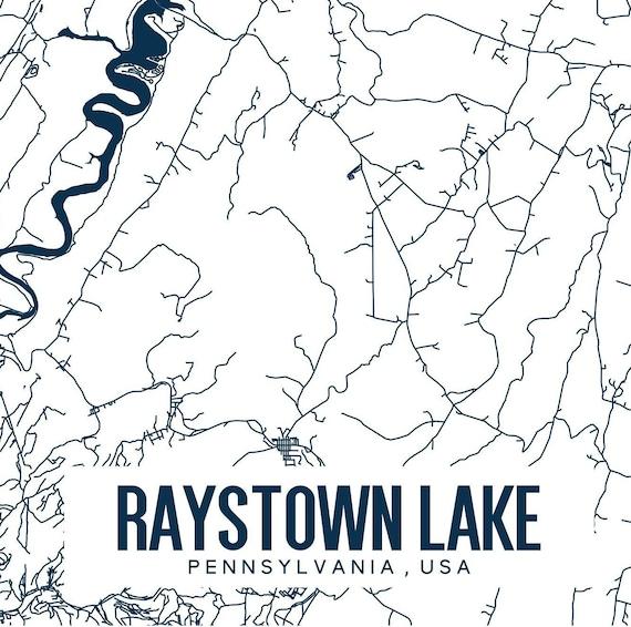 Raystown Lake Pennsylvania Printable Map, Raystown Lake Map Art, Raystown  Map Print, Lake Wall Art, Pennsylvania Map Art, Central PA Art