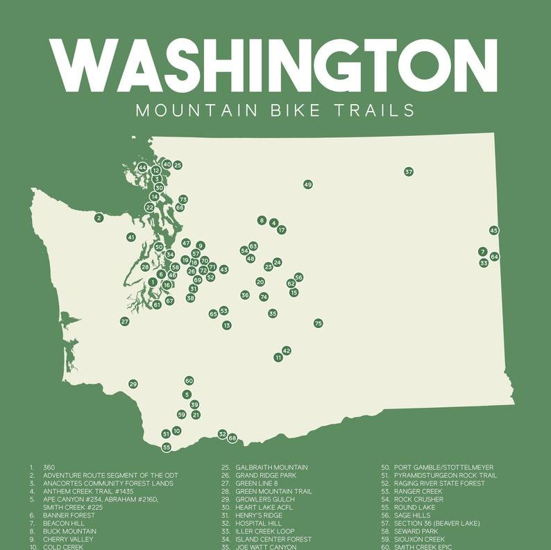 Washington Mountain Bike Trails Map printable 16
