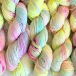 Poolside - Merino and Alpaca Sock Yarn - Hand Dyed Neon Speckle Yarn