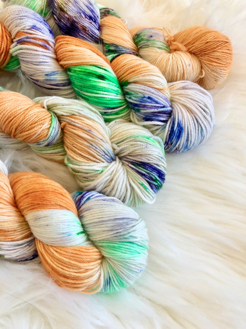 Hand Dyed Yarn Flagstaff 19 Merino DK Yarn